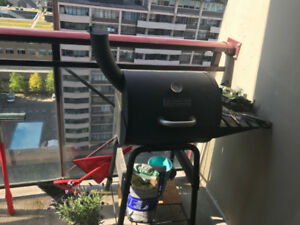 charcoal balcony BBQ barbecue