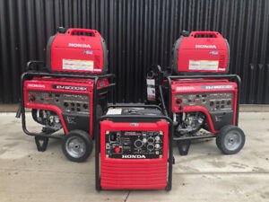 Honda generators starting at $31 bi-weekly with 6 year warranty!