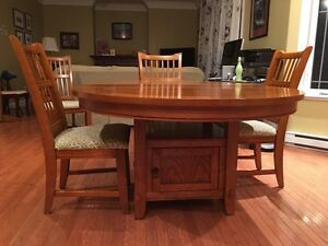 Round/Oval Dining Table with Leaf, 6 Chairs St. John's Newfoundland image 5