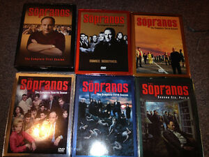GREAT DEAL! seasons 1-6 of SOPRANOS dvds - $59 (metrotown)