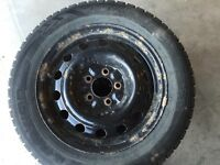 205/60/16 winter tires and rims bolt spacing114.5 x 5 for Mazda