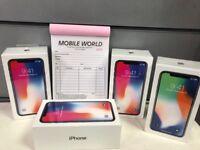IPhone X 256gb sealed pack unlocked 12 month apple waranty