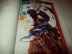 Toronto Maple Leafs 89-90 Fact Book with Autographs. Best Offer.