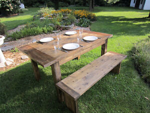 Rustic-style table/bench - Table/banc style rustique