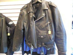 Old school black leather jacket @recycledgear.ca
