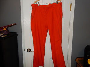 "XXL. ""Joe Fresh"" Cotton/Linen Orange Pants"