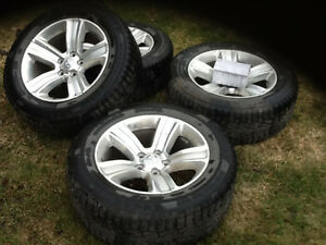 """Dodge Ram 20"""" wheels with studded winter tires/tpms"""