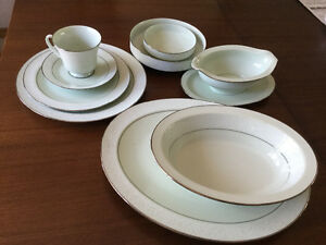 Set of Nortake dishes-----Promise Me pattern