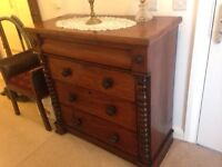 Antique mahogany Scottish chest of drawers