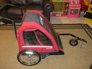 CCM Kid's Bicycle Bike Trailer / Stroller Combo