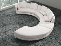 NEW! 4 PC Modern White Leather Sectional Sofa! Free Delivery