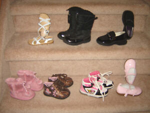 Girls Footwear sz 3 baby to 9 toddler, Boys Boots sz 10, Hats