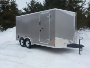 ( New) P.J. 16FT. Enclosed Trailer