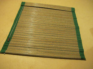 Bamboo and Fabric Window Blind.