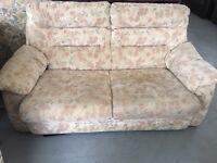 Cream neutral sofa bed in fair condition