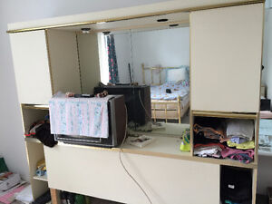 big drawer with mirror