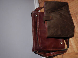Visconti VT5 Vintage Tan Genuine Leather Messenger Bag