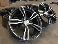"18"" BMW F10 STYLE ALLOY WHEELS X 4 BRAND NEW IN BOXES"