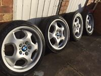 """Bmw e36 3 series RARE 17"""" m3 contour alloy wheels STAGGERED deep dish not bbs , throwing stars"""