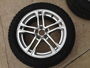 "17"" Audi/VW Aluminum Rims and Firestone Snow Tires"