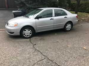 2007 Toyota Corolla very low kms E-tested