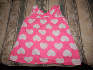 Pink dress with the hearts on it 18-24 m