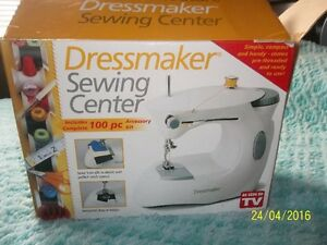 Small compact sewing machine and extras-Complete with manual