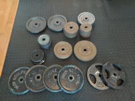 Over 120kg cast iron weight plates standard 1 inch diameter