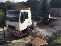 Man tilt and slide recovery truck lorry