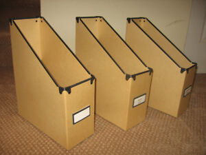 Three Magazine Filer's - Sturdy and New Condition