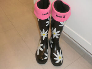 rubber boots   womens size 6