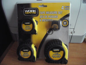 BRAND NEW TAPE MEASURE SET OF 4