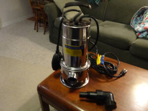 Sump Pump, stainless, submersible, new in box