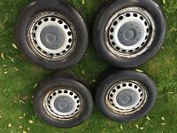 Vw caddy standard steel wheels and tyres alloys