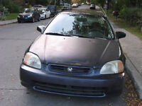 1998 HONDA CIVIC DX HATCHBACK-129000Km-1000$