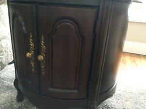 French provincial antique end tables