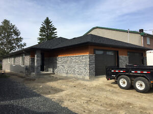 NEW one level duplex with attached garage for rent