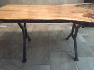 Beautiful live wood dining room table