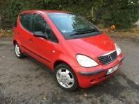 MERCEDES A140 CLASSIC 1.4 AUTOMATIC RED 5 DOOR HATCHBACK 2002