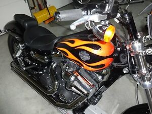 Beautiful balck and flame Wide Glide! Almost new!