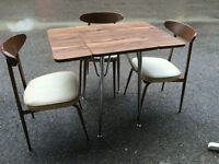 Vintage Bistro Table with 3 Chairs
