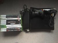 Xbox 360 (250GB) and games