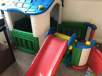 Kids play house with slide