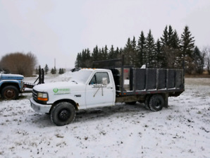 1996 Ford F350 Stake Truck with Tool Box