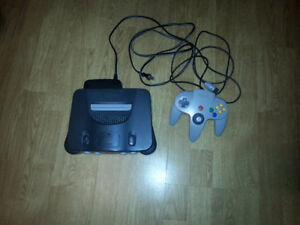 N64 System With Games & One Good Working Controller
