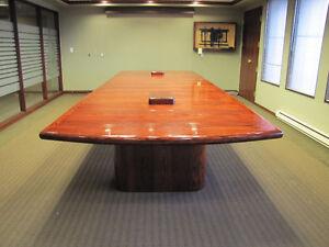 Conference table, 16.5ft x 5.5ft, oak veneer