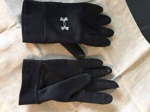 Men's under armor gloves with grips