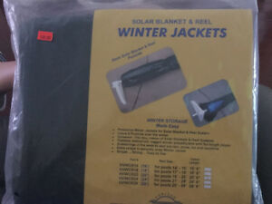 Pool solar blanket and reel winter cover
