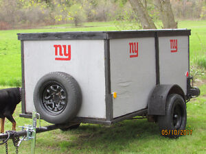 A NICE HEAVY DUTY TRAILER-WITH SPARE TIRE
