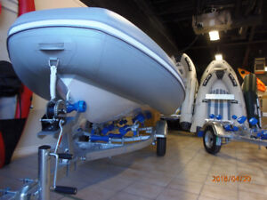 Half Price Sale! 14 ft Aluminum Rigid Hulled Inflatable Boat